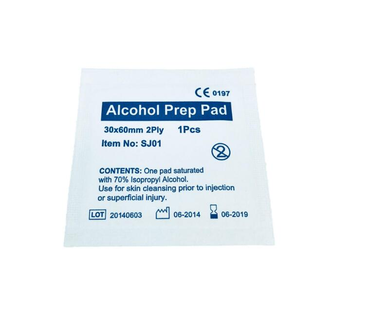 Printed Your Own Logo Alcohol Cotton Wipes