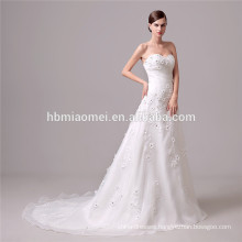The waist band elegant wedding dress off shoulder backless fish cut wedding dress