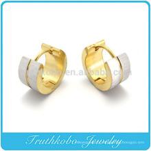 TKB-E0036 Huggie Hoop Earring créole en acier inoxydable Donut pour homme