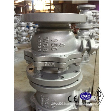 Flange 2-Way Full Port Wcb Stainless Steel Hand Lever Ball Valve