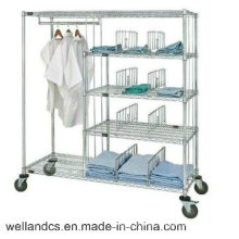NSF Wire Metro Shelving for Hospital and Drugstore (HD185463A5C)