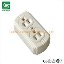 Duplex Receptacle Socket Surface Mounted Wall