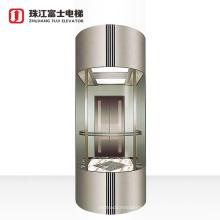 ZhuJiangFuJi Brand Panoramic Elevator All Glass Round Type