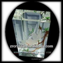 Vaso de cristal da pintura da mão