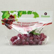 Anti Fog Customized  Zipper Keep Fresh Plastic Packing Bag for Fruits Apple Grape