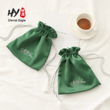 Tassel rope design satin jewelry bag