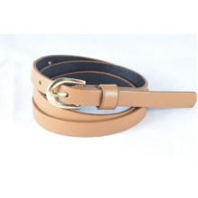 1cm thin width of lady Fashion PU garments belt