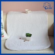 Pure White Cotton Floor Towel (QHA558)