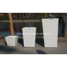 Outdoor Rattan Flower Pots with 3 Pots / SGS (8001)
