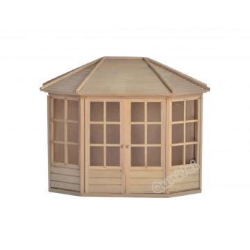 Dollhouse barewood wooden gazebo kit