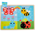 Educational Toys Wood Jigsaw Puzzles Manufacturers FSC Wooden Color Puzzle Animal Ce Unisex ASTM 2 to 4 Years Cpsia EN71