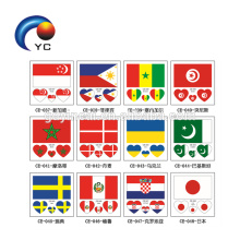 Countries Waterproof Temporary Tattoo Sticker for Match Holiday Supply