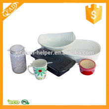Eco-Friendly Durable reutilizáveis Silicone Food Covers
