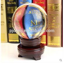 Очаровательная Прозрачный Кристалл Мяч С Деревянным Основанием Для Centerpiece Таблицы На Продажу