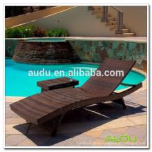 Audu Rattan Piscina al aire libre silla de playa de aluminio