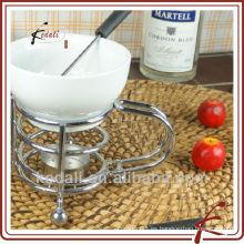 Chocolate caliente de la fondue de la venta con la fork