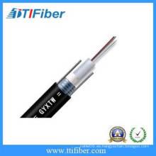 12 cable de fibra óptica blindado del tubo flojo del centro de GYXTW singlemode con la chaqueta del PE,