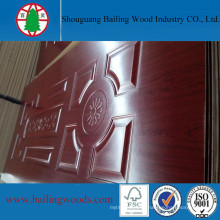 Melamine Faced Deep Moulded HDF Door Skin for Exterior Door