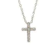 Collier pendentif croix tendance zircon cubique