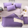 Microfibre Polyester solide couleur couette Cover SSet