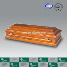 LUXES German Style Hardwood Caskets Funeral Coffins For Cremation