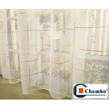 Tecido de cortina de organza, cortinas de seda, tecido para cortinas