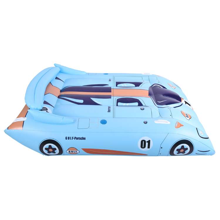Blue Ride on Car Water Floating Bed