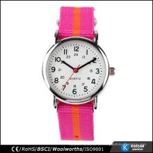 Fábrica direta atacado crianças personalizado relógio tecido, baratos crianças relógio