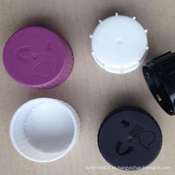 OEM Custom DOUBLE CAP Molde para inyección de plástico nuevo diseño inyección de plástico tóxico tapa líquida molde