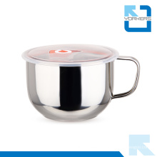 Stainless Steel Noodle Bowl with Leak-Proof Sealing Lid