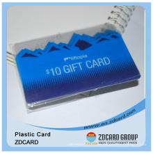 Plástico de impresión a todo color Transparente Supermercado Gift Card