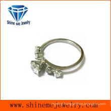 Fashion Jewelry Single Glass Stone Ring