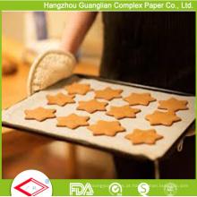 Papel tratado padaria da padaria do silicone 40g resistente de alta temperatura