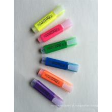 Plástico de alta qualidade 6 cores marcador caneta