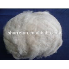 Mongolei Konkurrenzfähiger Preis Braun Farbe Enthaarte Kaschmir Wolle Faser