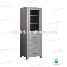 Modern Freestanding Tall Side Cabinet, wood bathroom linen cabinet