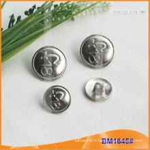 Bouton en alliage de zinc et boutons en métal et bouton de couture métallique BM1645