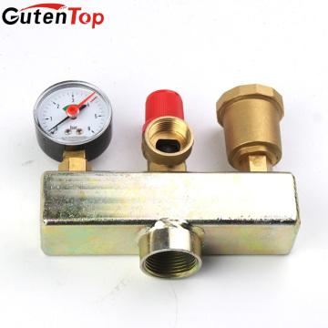 GutenTop Haute qualité chauffage au sol laiton soupape de sécurité Trois pièces ensemble sécurité composant de la chaudière