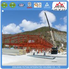 Asian prefabricated CE&BV&TUV certificated steel workshop