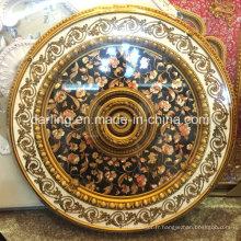 Round PS Matériel décoratif Panneau de médaillon de plafond