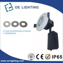 Calidad de entrada certificación cortafuego 9W regulable LED Downlight