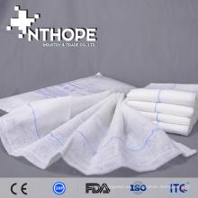 esponja de regazo de gasa abdominal azul de alta calidad con absorción de líquidos
