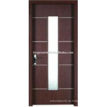 WPC PVC-Toiletten-Tür mit vertikalen Glas-Design, wasserdichte WC-Tür