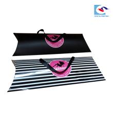 custom hair extensions pillow box packaging