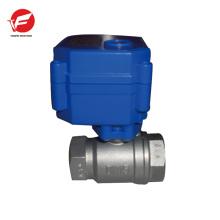CWX-15q motorized ball electric plastic water flow control valve