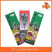 Vários tipos de folha de gusset lado chinês fornecedor de embalagens de chá