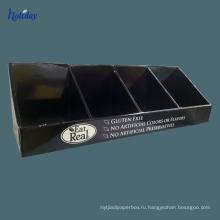 изготовленный на заказ напечатанные коробки дисплея счетчика Настольная коробка дисплея с крюками