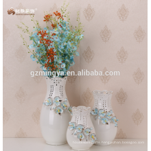 Decorative floor flower vase,large home decoration blue flower ceramic vase ceramic vase home decor