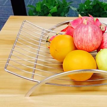 Корзина для хранения фруктов стула из металлической проволоки из нержавеющей стали