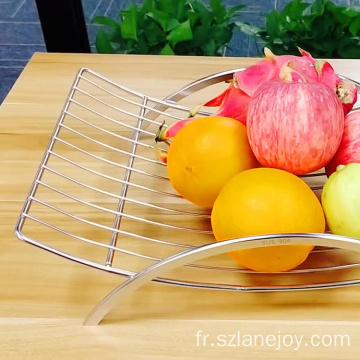 Creative Design Kitchen Fruit Storage Basket Counter Top Fruit Basket Bowl Single Tier  Fruit Basket